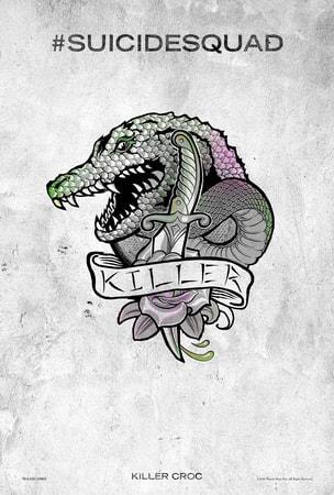 Suicide Squad tattoo poster: Killer Croc