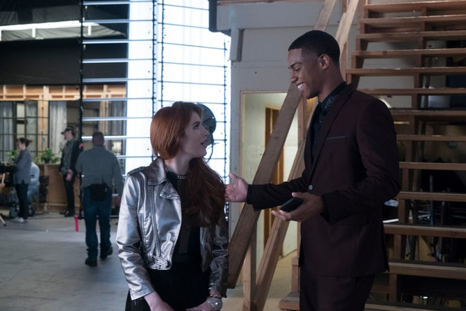 Bella Thorne as Paige Townsen and Keith Powers as Jordan Wilder