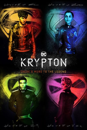 "Four Kypton characters with tag line ""There is More to the Legend"""