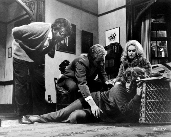 richard burton, george segal, sandy dennis and elizabeth taylor in who's afraid of virginia woolf