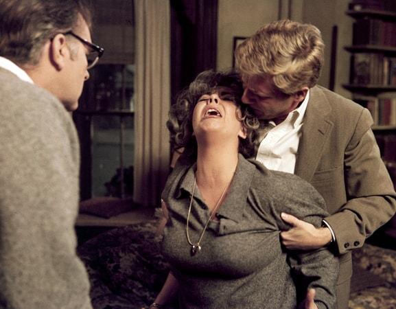 richard burton, elizabeth taylor and george segal in who's afraid of virginia woolf