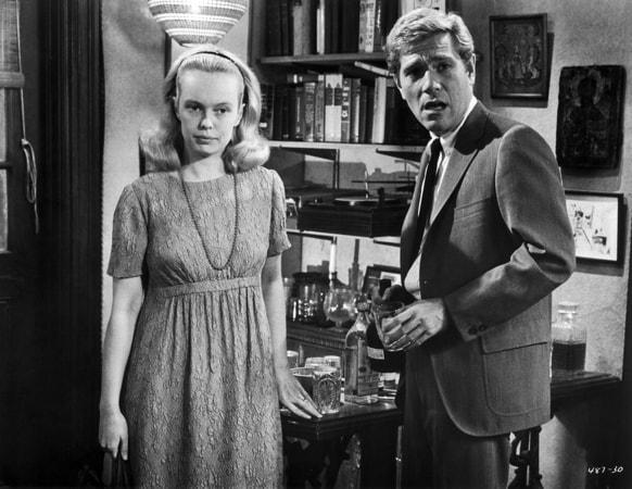 sandy dennis and george segal in who's afraid of virginia woolf