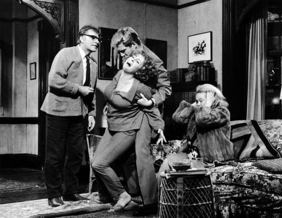 richard burton, elizabeth taylor, george segal and sandy dennis in who's afraid of virginia woolf