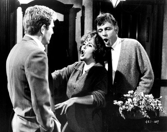 george segal, elizabeth taylor and richard burton in who's afraid of virginia woolf