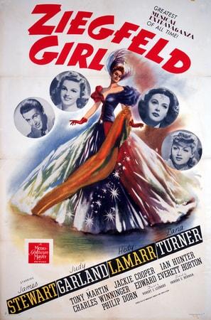 Poster featuring James Stewart as Gilbert Young, Judy Garland as Susan Gallagher, Hedy Lamarr as Sandra Kolter and Lana Turner as Sheila Regan.