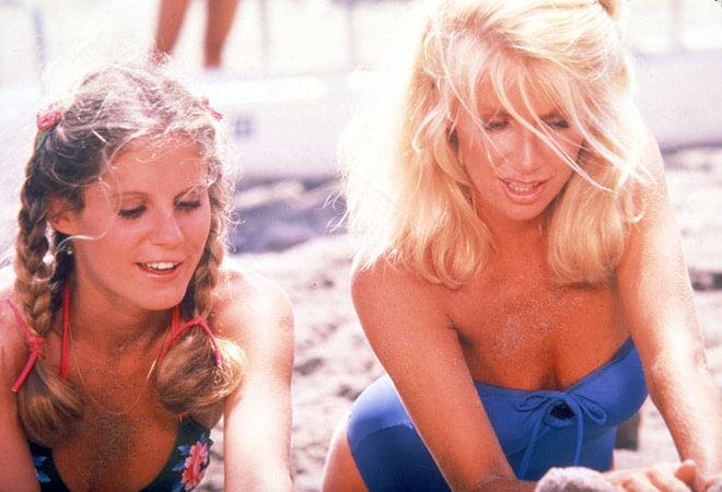 pj soles and suzanne somers star in zuma beach available now on dvd