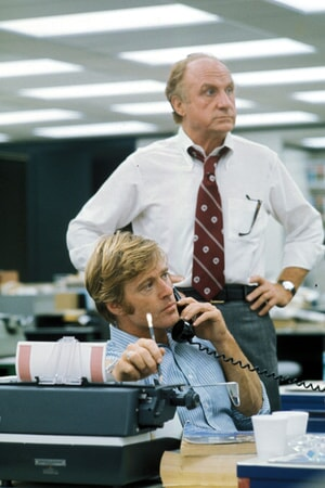 robert redford and jack warden in all the president's men