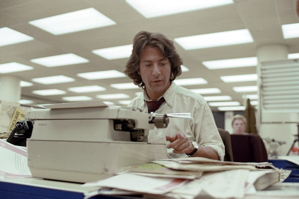 dustin hoffman in all the president's men