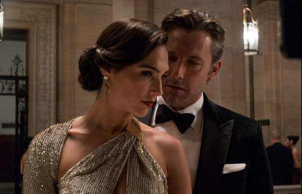 Gadot as Diana Prince / Wonder Woman and Ben Affleck as  Bruce Wayne / Batman