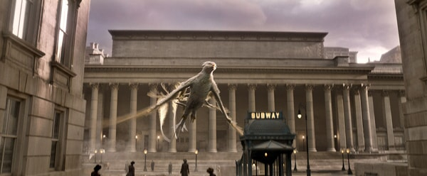 """A beast called a Thunderbird in a scene from Warner Bros. Pictures' fantasy adventure """"FANTASTIC BEASTS AND WHERE TO FIND THEM,"""" a Warner Bros. Pictures release."""