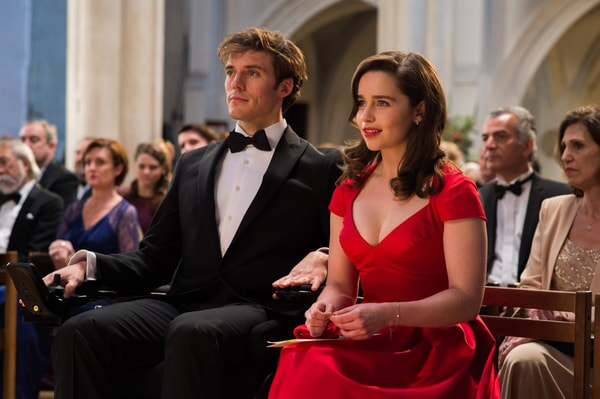 "SAM CLAFLIN as Will Traynor and EMILIA CLARKE as Louisa ""Lou"" Clark in New Line Cinema's and Metro-Goldwyn-Mayer Pictures' romantic drama ""ME BEFORE YOU,"" a Warner Bros. Pictures and Metro-Goldwyn-Mayer Pictures release."