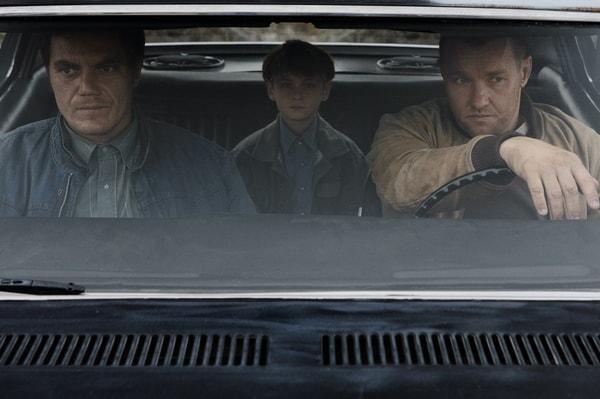 "MICHAEL SHANNON as Roy, JAEDEN LIEBERHER as Alton and JOEL EDGERTON as Lucas in director Jeff Nichols' sci-fi thriller ""MIDNIGHT SPECIAL,"""