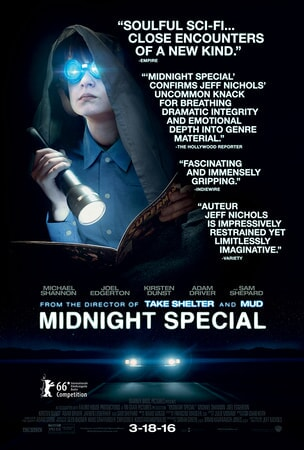 Midnight Special poster with quotes about the movie