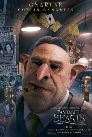Fantastic Beasts and Where to Find Them character poster: Gnarlak