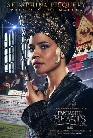 Fantastic Beasts and Where to Find Them character poster: Seraphina Picquery