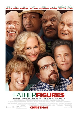 Close up shot of cast of Father Figures