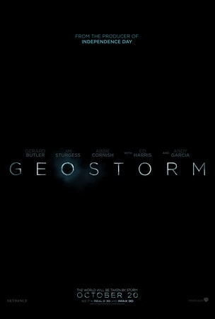 Geostorm logo on black background