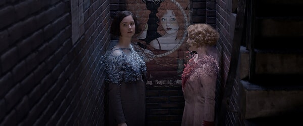 """KATHERINE WATERSTON as Tina and ALISON SUDOL as Queenie in Warner Bros. Pictures' fantasy adventure """"FANTASTIC BEASTS AND WHERE TO FIND THEM,"""" a Warner Bros. Pictures release."""