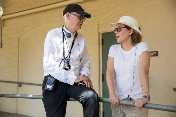 """Director of photography CALEB DESCHANEL and director/producer DENIS DI NOVI on the set of Warner Bros. Pictures' dramatic thriller """"UNFORGETTABLE,"""" a Warner Bros. Pictures release."""