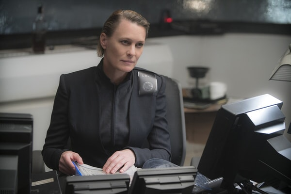 "ROBIN WRIGHT as Lt. Joshi in Alcon Entertainment's action thriller ""BLADE RUNNER 2049,"" a Warner Bros. Pictures and Sony Pictures Entertainment release, domestic distribution by Warner Bros. Pictures and international distribution by Sony Pictures."