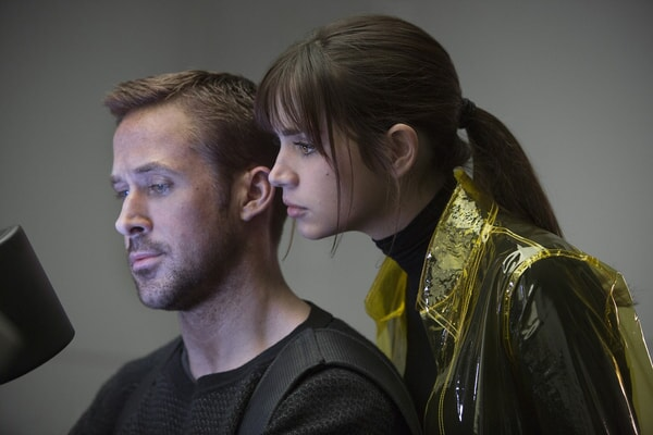 "RYAN GOSLING as K and ANA DE ARMAS as Joi in Alcon Entertainment's action thriller ""BLADE RUNNER 2049,"" a Warner Bros. Pictures and Sony Pictures Entertainment release, domestic distribution by Warner Bros. Pictures and international distribution by Sony Pictures."