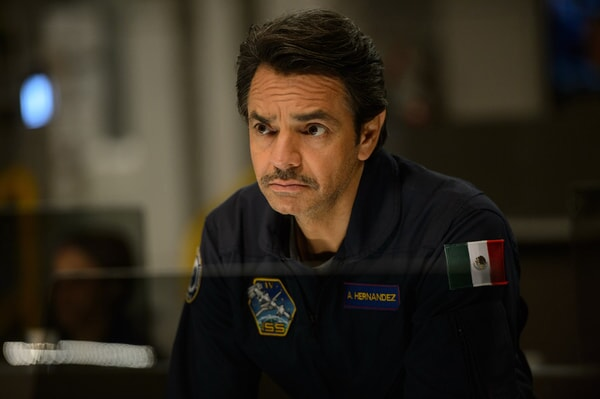 "EUGENIO DERBEZ as Al Hernandez in Warner Bros. Pictures' and Skydance's suspense thriller ""GEOSTORM,"" a Warner Bros. Pictures release."