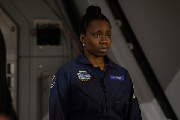 "ADEPERO ODUYE as Eni Adisa in Warner Bros. Pictures' and Skydance's suspense thriller ""GEOSTORM,"" a Warner Bros. Pictures release."