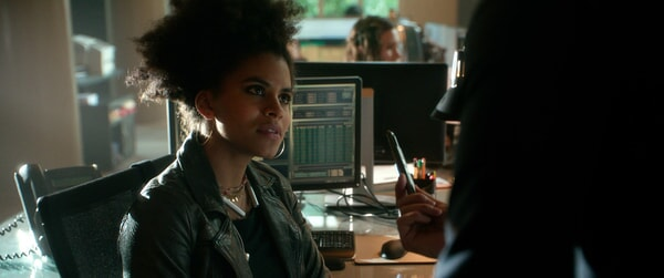 "ZAZIE BEETZ as Dana in Warner Bros. Pictures' and Skydance's suspense thriller ""GEOSTORM,"" a Warner Bros. Pictures release."