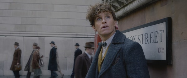 "EDDIE REDMAYNE as Newt Scamander in Warner Bros. Pictures' fantasy adventure ""FANTASTIC BEASTS: THE CRIMES OF GRINDELWALD,"" a Warner Bros. Pictures release."
