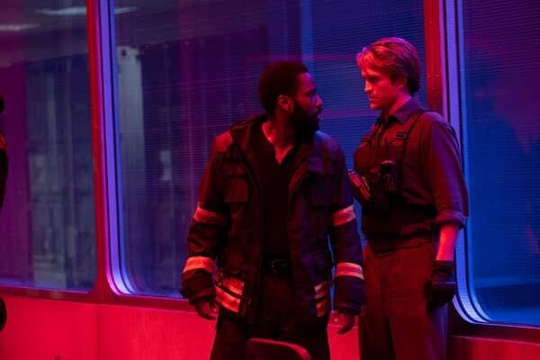 """OBERT PATTINSON and JOHN DAVID WASHINGTON in Warner Bros. Pictures' action epic """"TENET."""""""