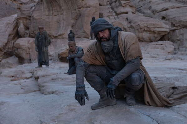 """(Front) JAVIER BARDEM as Stilgar in Warner Bros. Pictures' and Legendary Pictures' action adventure """"DUNE"""""""