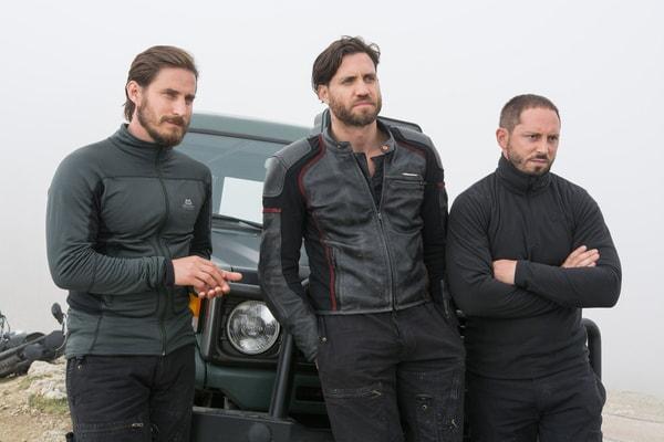 "CLEMENS SCHICK as Roach, EDGAR RAMIREZ as Bodhi and MATIAS VARELA as Grommet in Alcon Entertainment's action thriller ""POINT BREAK,"" a Warner Bros. Pictures release."