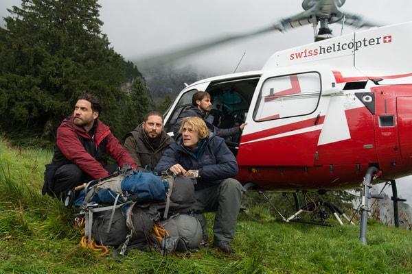 "EDGAR RAMIREZ as Bodhi, MATIAS VARELA as Grommet, LUKE BRACEY as Utah and CLEMENS SCHICK as Roach in Alcon Entertainment's action thriller ""POINT BREAK,"" a Warner Bros. Pictures release."