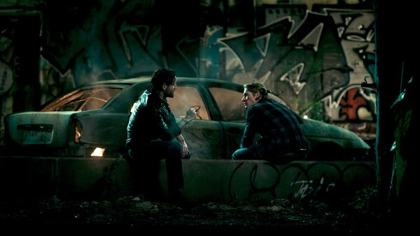 "EDGAR RAMIREZ as Bodhi and LUKE BRACEY as Utah in Alcon Entertainment's action thriller ""POINT BREAK,"" a Warner Bros. Pictures release."