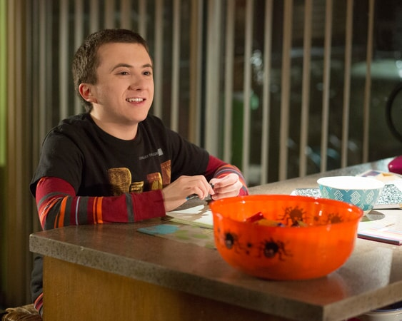 "Atticus Shaffer as Brick Heck in ""Halloween VIII: Orson Murder Mystery"""