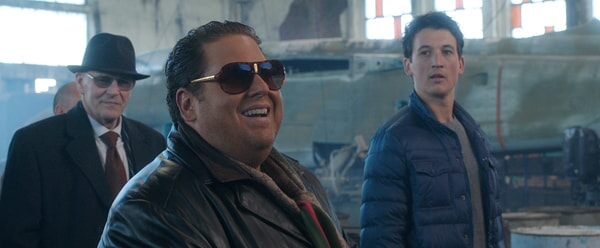 "ANDREI FINTI as Yili Pinari, JONAH HILL as Efraim and MILES TELLER as David in Warner Bros. Pictures' comedic drama (based on true events) ""WAR DOGS,"" a Warner Bros. Pictures release."