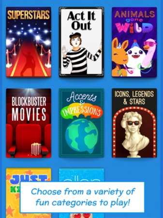 Choose from a variety of fun categories to play!