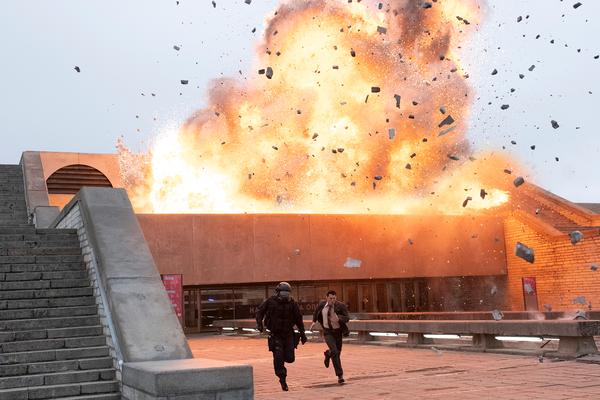 "(L-r) JOHN DAVID WASHINGTON and RICH CERAULO KO in Warner Bros. Pictures' action epic ""TENET"""