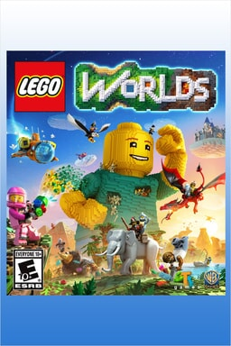 LEGO Worlds characters on packaging art