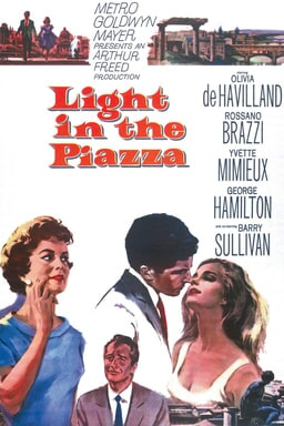 olivia de havilland and rossano brazzi and yvette mimieux and george hamilton star in light in the piazza