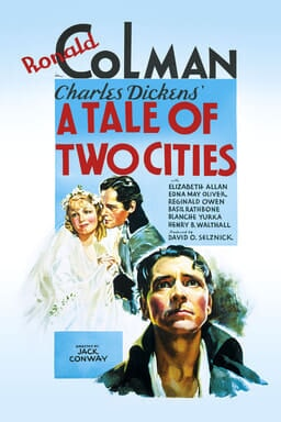 A Tale of Two Cities (1935) - Blue background with Ronal Colman, Jack Conway, Elizabeth Allen