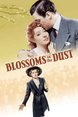 Blossoms in the Dust - Two characters man and woman in picture with man kissing forehead