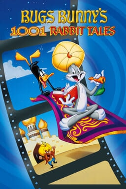 Bugs Bunny's 1001 Rabbit Tales - Bugs Bunny on an Arabian rug and Daffy Duck clinging behind