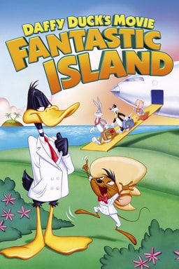 Daffy Duck's Movie: Fantastic Island - Daffy Duck wearing white coat on grassland with Looney Tunes