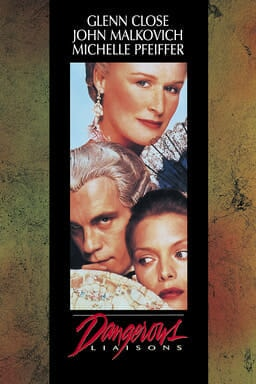 Dangerous Liaisons - Glenn Close, John Malkovich, Michelle Pfeiffer in a photo strip