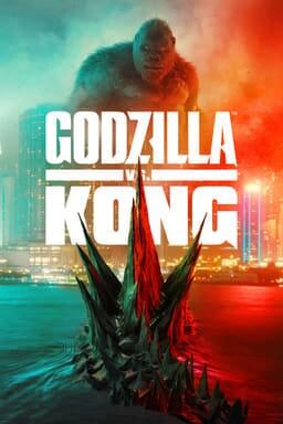 Godzilla vs. Kong - Godzilla in water with spikes out as Godzilla glares from the city