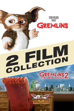 Gremlins 1 & 2 Collection (2pk) - Gremlins pointing and Gremlins below in a red chair hiding eyes