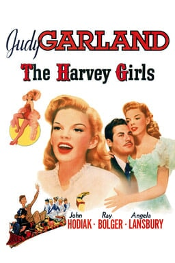 The Harvey Girls - Judy Garland - Collage of images on white background