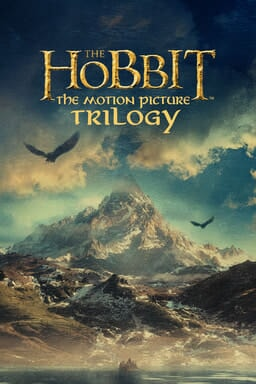 The Hobbit: Motion Picture Trilogy - Mountain peak with soaring eagles and cloudy skies