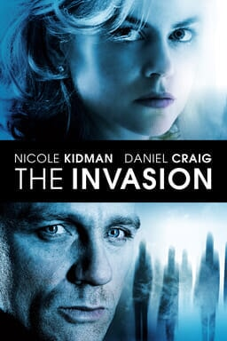 The Invasion - Nicole Kidman and Daniel Craig with light blue shadowed background